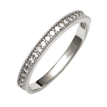 35b22187f6f49d Złoty pierścionek pr.585 cyrkonie białe złoto - Viadem.pl