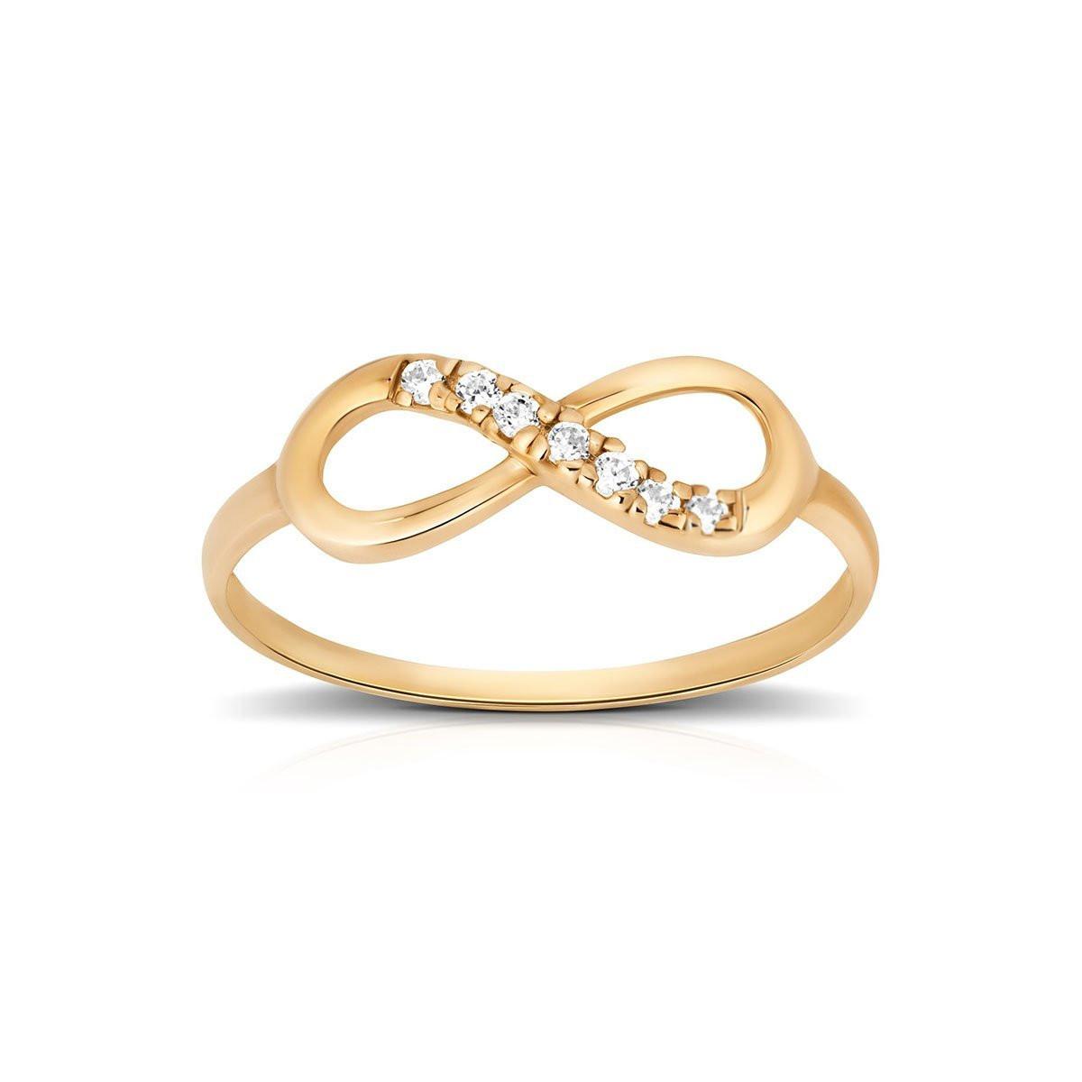 359116ec4e914d Złoty pierścionek 333 nieskończoność - Viadem.pl