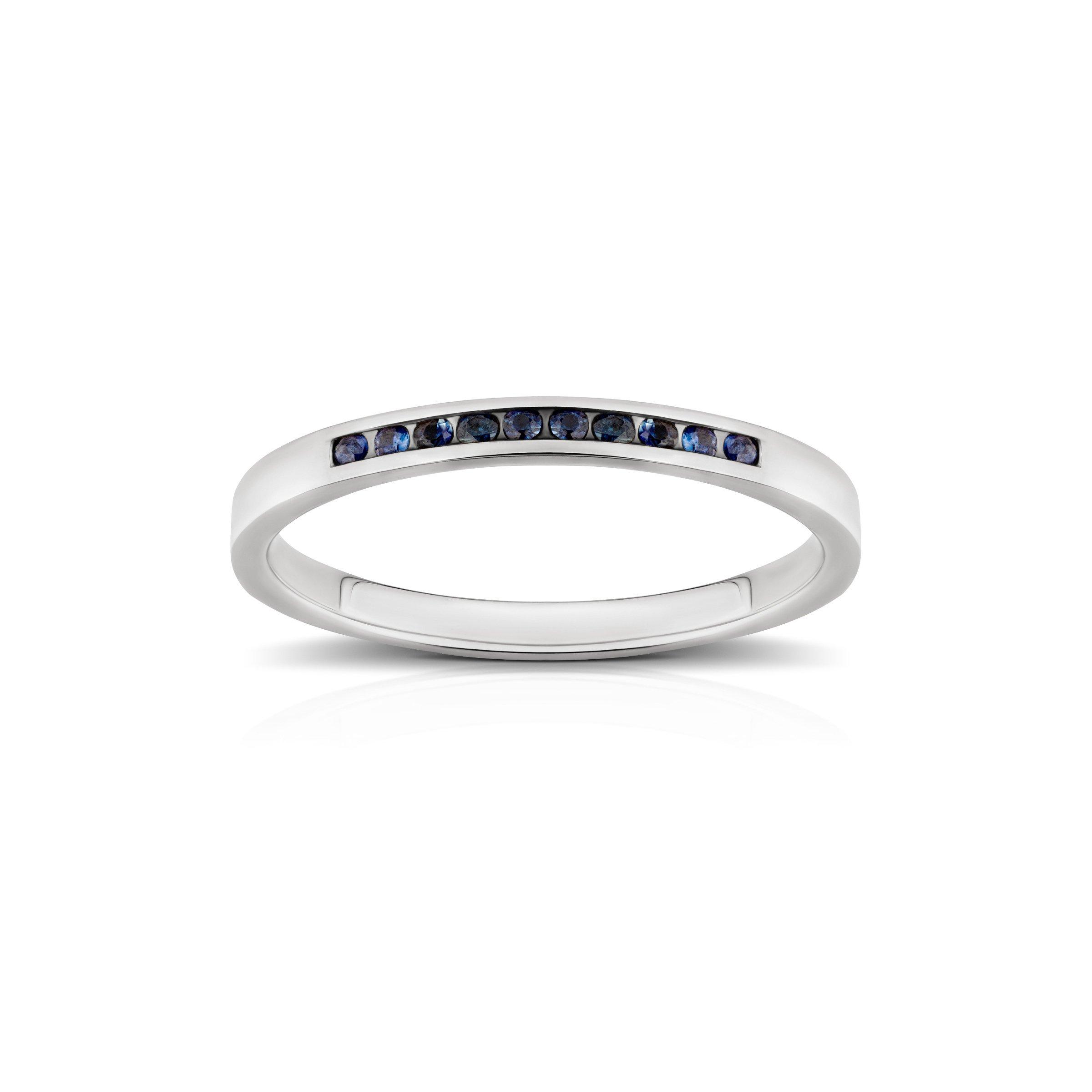 6f946cdb218bf1 Złoty pierścionek 585 Szafir 1,3 mm białe złoto Kliknij, aby powiększyć
